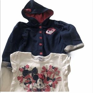 Minnie Mouse Hooded Sweater and Tshirt 3T